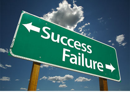 success/failure highway sign