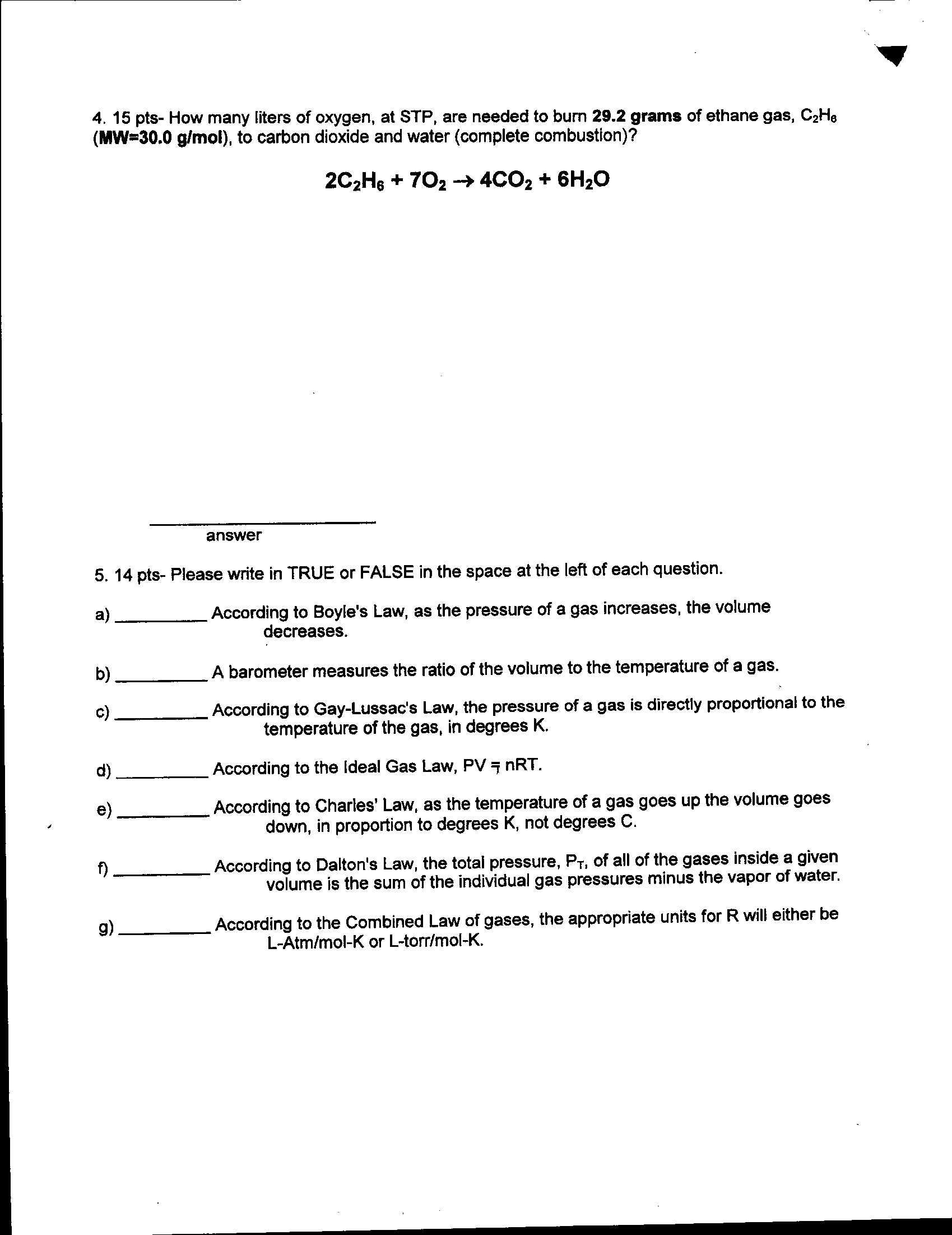 Molar Volume Of A Gas Lab Report Lab Report Determining