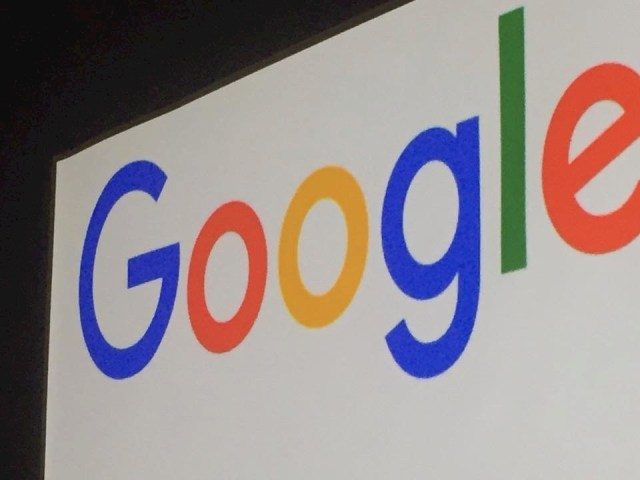 Google's Logo Photographed at an Evenet