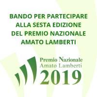 Premio Nazionale Amato Lamberti, al via il nuovo bando di concorso