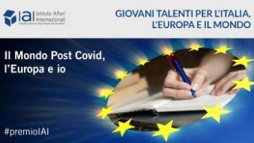 """""""Premio IAI"""" – Giovani talenti per l'Italia, l'Europa e il mondo"""