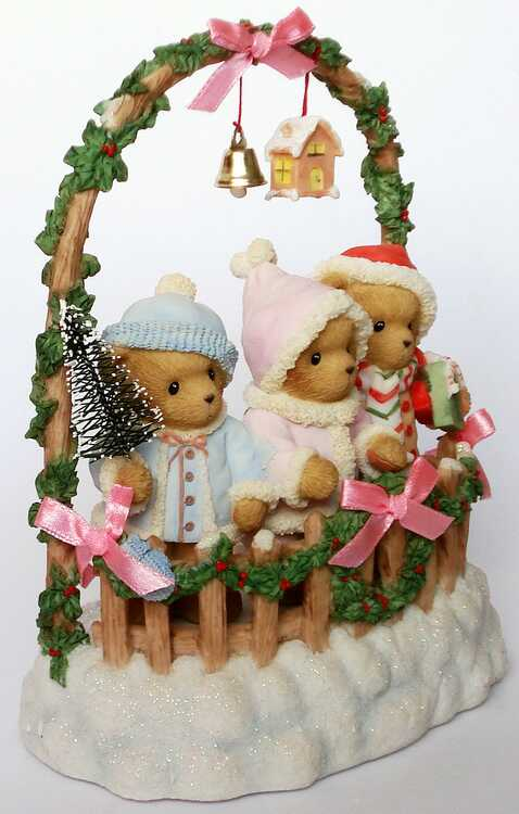 Heidis Cherished Teddies Galerie CASHLEY COURTNEY And CAITLIN Good Tidings To Friends