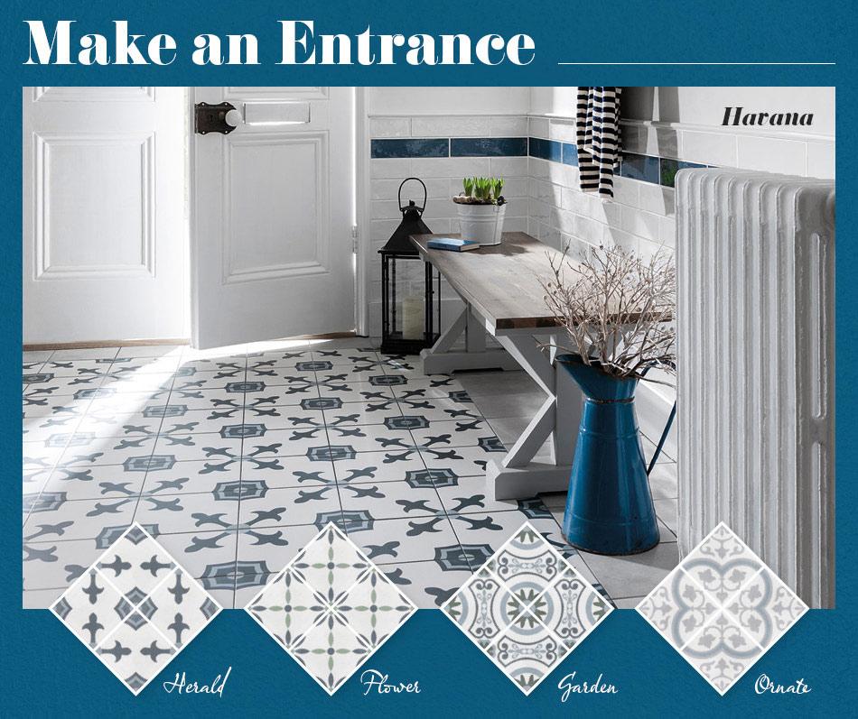 patterned kitchen wall tiles uk