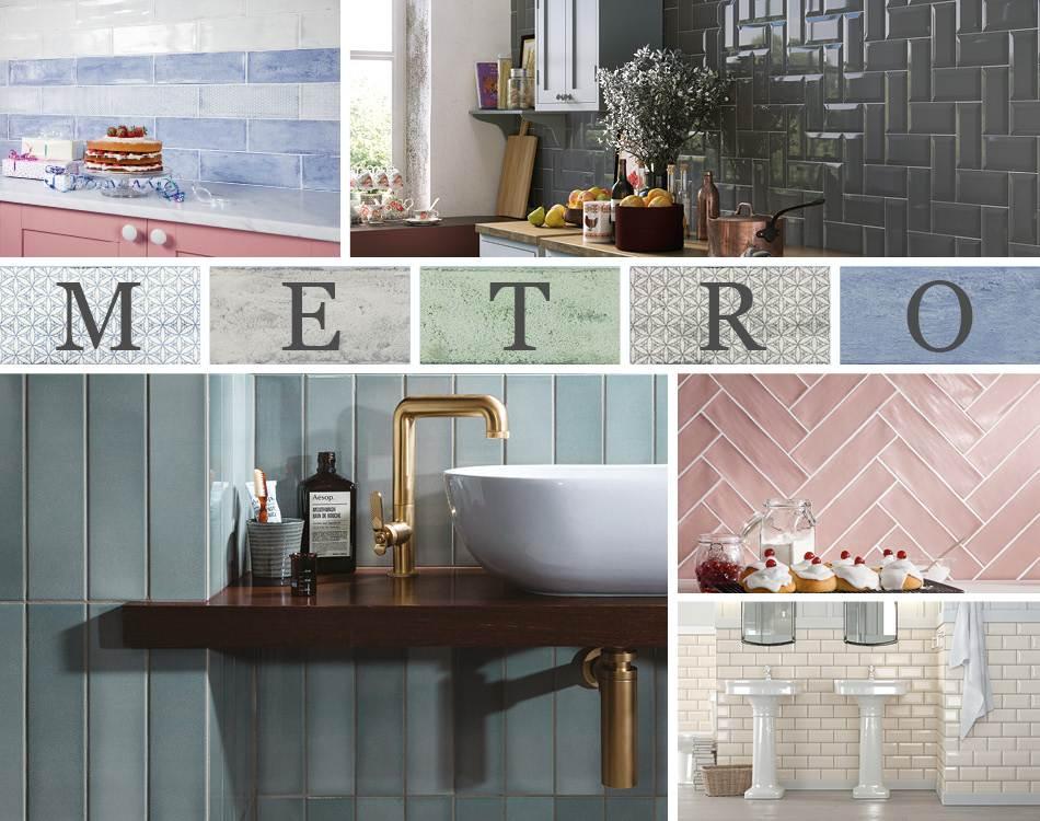 metro brick tiles bathroom ideas with