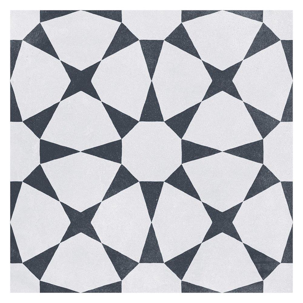 cuban white star tile 223x223mm