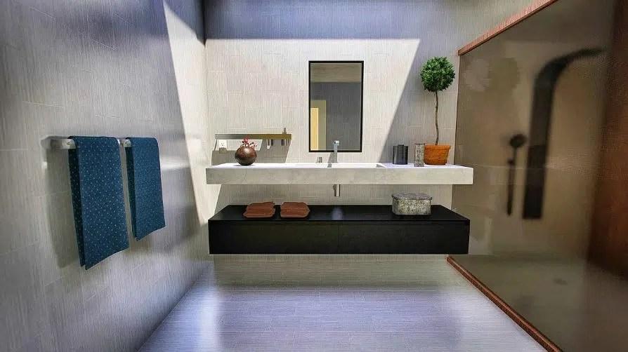 salle de bain sans changer le carrelage