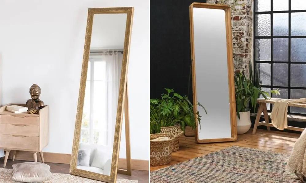 grand miroir sur pied selection des