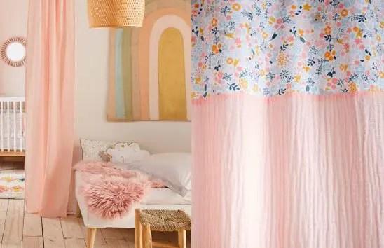 rideau rose poudre selection des plus