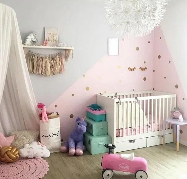 deco chambre bebe fille gris rose 12