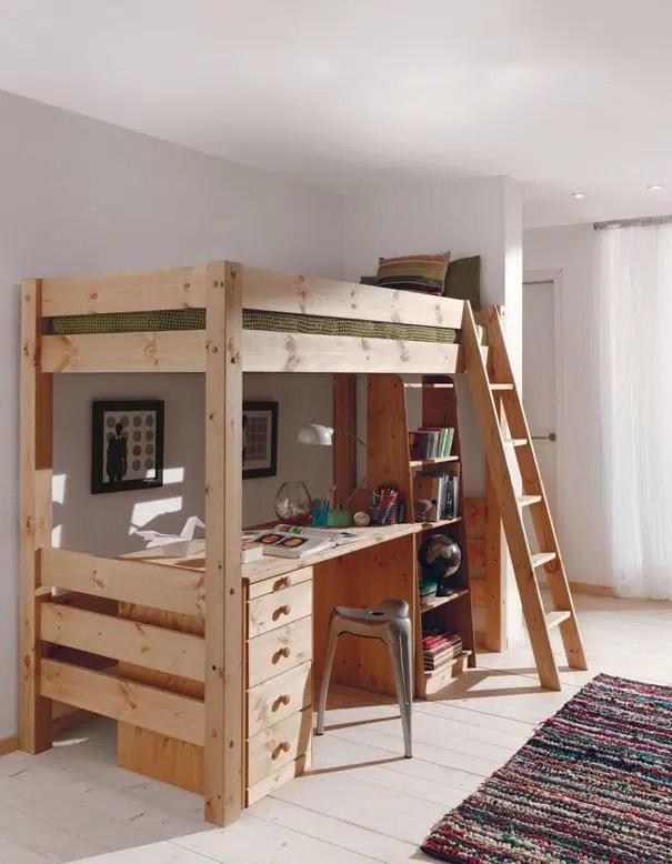lit mezzanine avec rangement