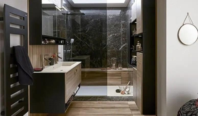 salle de bain marron selection des