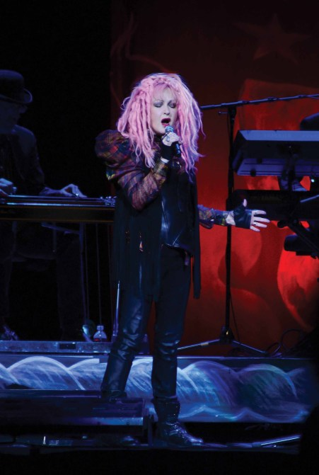 Cyndi Lauper at the Mohegan Sun.