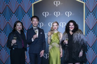 SHANGHAI, CHINA - JUNE 16: (L-) Roxana who is brand director of CPB, Mr Fujiwara who is CEO of Shiseido China, Actress Amanda Seyfried and Artist Ashley Longshore attends the promotional event for Shiseido's Cle de Peau Beaute on June 16, 2016 in Shanghai, China. (Photo by Lintao Zhang/Getty Images) *** Local Caption *** Roxana; Fujiwara; Amanda Seyfried; Ashley Longshore
