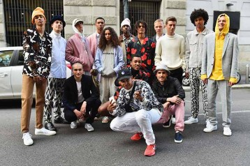 "MILAN, ITALY - JUNE 17: Designer Silas Adler and models at Soulland ""Chaos Reigns In The Heart Of Milan"" during Milan Men's Fashion Week SS17 on June 17, 2016 in Milan, Italy. (Photo by Stefania D'Alessandro/Getty Images for WHITE) *** Local Caption *** Silas Adler"
