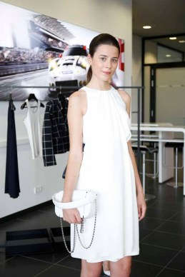 LEIPZIG, GERMANY - JULY 11: A model presents the Porsche Design Woman SS17 Collection during the 'Porsche Experience For Women' Event on July 11, 2016 in Leipzig, Germany. (Photo by Isa Foltin/Getty Images for Porsche AG & Porsche Design)