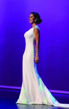 Alyssa Taglia in the preliminary night for Miss Connecticut.