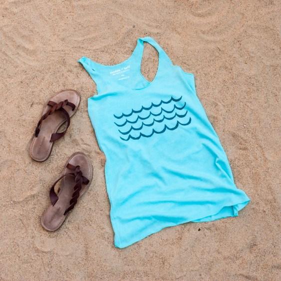 cinder + salt waves tank in sand