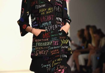 NEW YORK, NY - SEPTEMBER 12: A model walks the runway at Libertine Spring/Summer 2017 fashion show during New York Fashion Week at The Gallery, Skylight at Clarkson Sq on September 12, 2016 in New York City. (Photo by Noam Galai/Getty Images for CND)