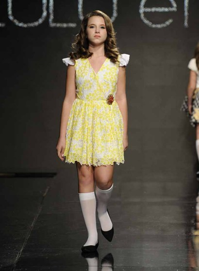 LOS ANGELES, CA - OCTOBER 11: A model walks the runway wearing Lulu Et Gigi at Art Hearts Fashion Los Angeles Fashion Week presented by AIDS Healthcare Foundation on October 11, 2016 in Los Angeles, California. (Photo by Arun Nevader/Getty Images for Art Hearts Fashion)