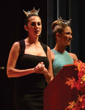 Miss Connecticut Alyssa Taglia, left, and Miss Connecticut's Outstanding Teen Samantha Anderson.