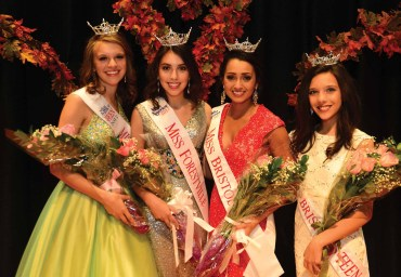 Cassandra Lechner is the new Miss Forestville's Outstanding Teen. left; Erika Farrell is the new Miss Forestville; Gina Salvatore was crowned Miss Bristol; Victoria Kilbourne is the new Miss Bristol's Outstanding Teen.