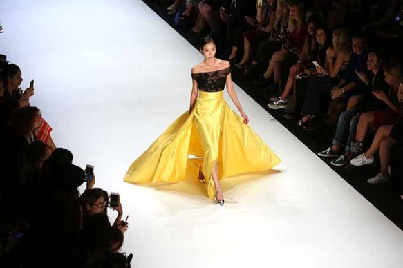 ISTANBUL, TURKEY - OCTOBER 12: A model walks the runway at the Rasit Bagzibagli show during Mercedes-Benz Fashion Week Istanbul at Zorlu Center on October 12, 2016 in Istanbul, Turkey. (Photo by Tim P. Whitby/Getty Images for IMG)