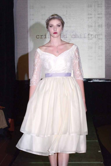Crinkled Chiffon at Hartford Fashion Week.