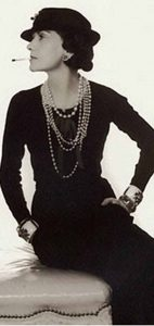 Designer Coco Chanel popularized the 'Little Black Dress' we know today.