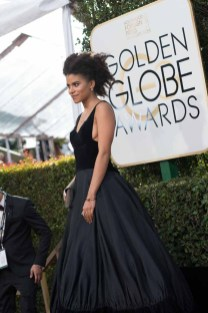 Zazie Beetz attends the 74th Annual Golden Globes Awards at the Beverly Hilton in Beverly Hills, CA on Sunday, January 8, 2017.