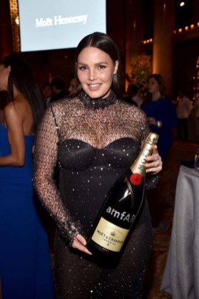 NEW YORK, NY - FEBRUARY 08: Model Candice Huffine attends as Moet & Chandon Toasts to the amfAR New York Gala At Cipriani Wall Street at Cipriani Wall Street on February 8, 2017 in New York City. (Photo by Bryan Bedder/Getty Images for Moet & Chandon) *** Local Caption *** Candice Huffine