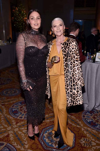 NEW YORK, NY - FEBRUARY 08: Models Candice Huffine and Maye Musk attends as Moet & Chandon Toasts to the amfAR New York Gala At Cipriani Wall Street at Cipriani Wall Street on February 8, 2017 in New York City. (Photo by Bryan Bedder/Getty Images for Moet & Chandon) *** Local Caption *** Candice Huffine, Maye Musk