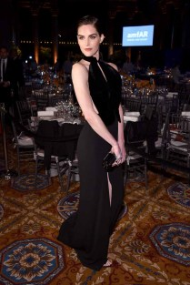 NEW YORK, NY - FEBRUARY 08: Model Hilary Rhoda attends as Moet & Chandon Toasts to the amfAR New York Gala At Cipriani Wall Street at Cipriani Wall Street on February 8, 2017 in New York City. (Photo by Bryan Bedder/Getty Images for Moet & Chandon) *** Local Caption *** Hilary Rhoda