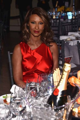 NEW YORK, NY - FEBRUARY 08: Model Iman attends as Moet & Chandon Toasts to the amfAR New York Gala At Cipriani Wall Street at Cipriani Wall Street on February 8, 2017 in New York City. (Photo by Bryan Bedder/Getty Images for Moet & Chandon) *** Local Caption *** Iman