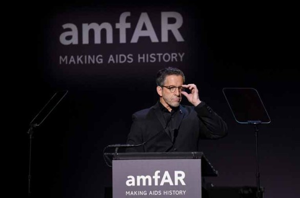 NEW YORK, NY - FEBRUARY 08: Designer Kenneth Cole speaks onstage as Moet & Chandon Toasts to the amfAR New York Gala At Cipriani Wall Street at Cipriani Wall Street on February 8, 2017 in New York City. (Photo by Bryan Bedder/Getty Images for Moet & Chandon) *** Local Caption *** Kenneth Cole