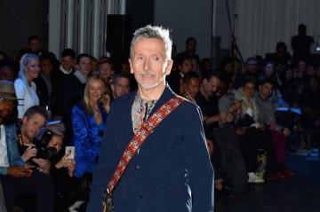 Simon Doonan== The Blue Jacket Fashion Show to Benefit the Prostate Cancer Foundation== Pier 59 Studios, NYC== February 1, 2017== ©Patrick McMullan== photo - Patrick McMullan/PMC== == Simon Doonan