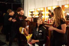 Cheryl Chou, Miss Singapore 2016 gets hair done by a stylist from CHI Haircare backstage during The 65th MISS UNIVERSE® Telecast airing on FOX at 7:00 PM ET live/PT tape-delayed on Sunday, January 29 from the Mall of Asia Arena. The contestants have been touring, filming, rehearsing and preparing to compete for the Miss Universe crown in the Philippines. HO/The Miss Universe Organization