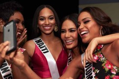 Monyque Brooks, Miss Cayman Islands 2016; Raquel Pelissier, Miss Haiti 2016; Chalita Suansane, Miss Thailand 2016; and Andrea Tovar, Miss Colombia 2016; backstage during The 65th MISS UNIVERSE® Telecast airing on FOX at 7:00 PM ET live/PT tape-delayed on Sunday, January 29 from the Mall of Asia Arena. The contestants have been touring, filming, rehearsing and preparing to compete for the Miss Universe crown in the Philippines. HO/The Miss Universe Organization