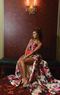 Sami Anderson wears a prom outfit with a romper from Sherri Hill for a different look for the big event. Anderson, of Wolcott, was photographed on location at The Palace Theater in Waterbury.