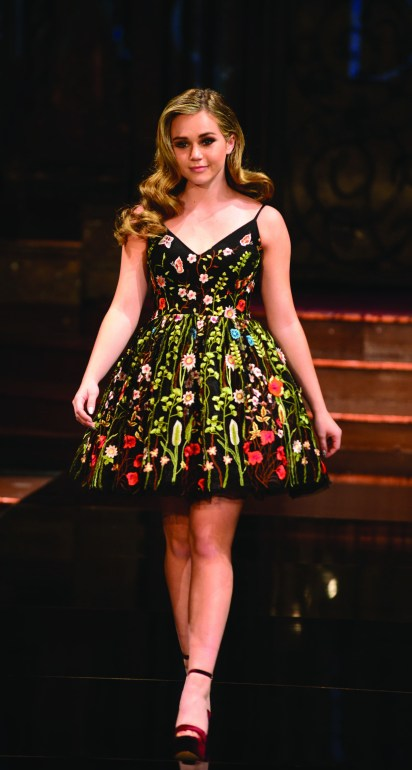 Short babydoll skirts were a trend worked at the Mac Duggal runway show in February at Art Hearts Fashion in New York.