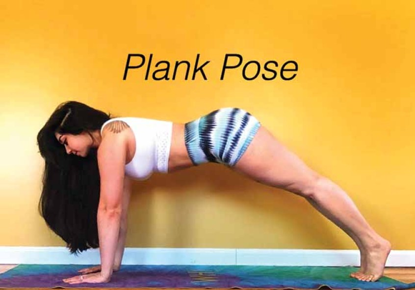 focus plank pose