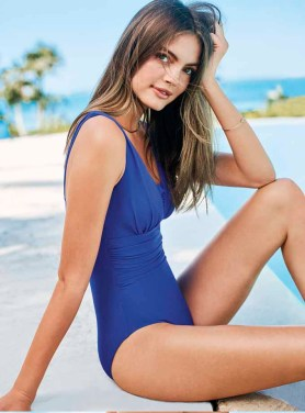 A one-piece swimsuit from Lands' End.