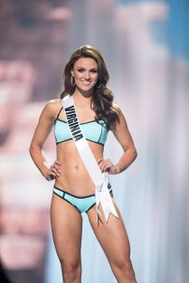 Jacqueline Carroll, Miss Virginia USA 2017, competes on stage in Yandy Swim during the MISS USA® Preliminary Competition at Mandalay Bay Convention Center on May 11, 2017. The Miss USA contestants have been touring, filming, rehearsing and preparing to compete for the Miss USA crown in Las Vegas, Nevada. Tune in to the FOX telecast at 8:00 PM ET live/PT tape-delayed on Sunday, May 14, from Mandalay Bay Resort and Casino Las Vegas to see who will become Miss USA. HO/The Miss Universe Organization
