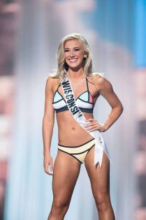 Skylar Witte, Miss Wisconsin USA 2017, competes on stage in Yandy Swim during the MISS USA® Preliminary Competition at Mandalay Bay Convention Center on May 11, 2017. The Miss USA contestants have been touring, filming, rehearsing and preparing to compete for the Miss USA crown in Las Vegas, Nevada. Tune in to the FOX telecast at 8:00 PM ET live/PT tape-delayed on Sunday, May 14, from Mandalay Bay Resort and Casino Las Vegas to see who will become Miss USA. HO/The Miss Universe Organization