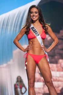 Alyssa London, Miss Alaska USA 2017, competes on stage in Yandy Swim during the MISS USA® Preliminary Competition at Mandalay Bay Convention Center on May 11, 2017. The Miss USA contestants have been touring, filming, rehearsing and preparing to compete for the Miss USA crown in Las Vegas, Nevada. Tune in to the FOX telecast at 8:00 PM ET live/PT tape-delayed on Sunday, May 14, from Mandalay Bay Resort and Casino Las Vegas to see who will become Miss USA. HO/The Miss Universe Organization