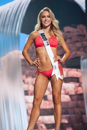 Tommy Lynn Calhoun, Miss Arizona USA 2017, competes on stage in Yandy Swim during the MISS USA® Preliminary Competition at Mandalay Bay Convention Center on May 11, 2017. The Miss USA contestants have been touring, filming, rehearsing and preparing to compete for the Miss USA crown in Las Vegas, Nevada. Tune in to the FOX telecast at 8:00 PM ET live/PT tape-delayed on Sunday, May 14, from Mandalay Bay Resort and Casino Las Vegas to see who will become Miss USA. HO/The Miss Universe Organization