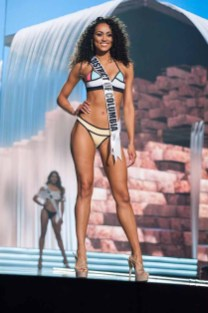 Kára McCullough, Miss District Of Columbia USA 2017, competes on stage in Yandy Swim during the MISS USA® Preliminary Competition at Mandalay Bay Convention Center on May 11, 2017. The Miss USA contestants have been touring, filming, rehearsing and preparing to compete for the Miss USA crown in Las Vegas, Nevada. Tune in to the FOX telecast at 8:00 PM ET live/PT tape-delayed on Sunday, May 14, from Mandalay Bay Resort and Casino Las Vegas to see who will become Miss USA. HO/The Miss Universe Organization