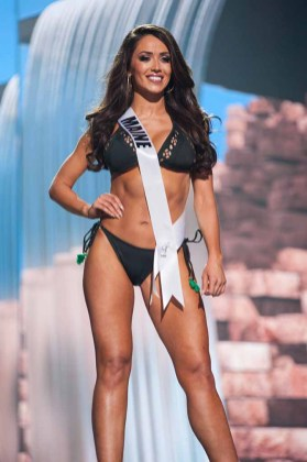 Brooke Harris, Miss Maine USA 2017, competes on stage in Yandy Swim during the MISS USA® Preliminary Competition at Mandalay Bay Convention Center on May 11, 2017. The Miss USA contestants have been touring, filming, rehearsing and preparing to compete for the Miss USA crown in Las Vegas, Nevada. Tune in to the FOX telecast at 8:00 PM ET live/PT tape-delayed on Sunday, May 14, from Mandalay Bay Resort and Casino Las Vegas to see who will become Miss USA. HO/The Miss Universe Organization