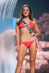 Sarah Mousseau, Miss New Hampshire USA 2017, competes on stage in Yandy Swim during the MISS USA® Preliminary Competition at Mandalay Bay Convention Center on May 11, 2017. The Miss USA contestants have been touring, filming, rehearsing and preparing to compete for the Miss USA crown in Las Vegas, Nevada. Tune in to the FOX telecast at 8:00 PM ET live/PT tape-delayed on Sunday, May 14, from Mandalay Bay Resort and Casino Las Vegas to see who will become Miss USA. HO/The Miss Universe Organization