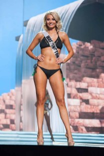 Alex Carlson-Helo, Miss Washington USA 2017, competes on stage in Yandy Swim during the MISS USA® Preliminary Competition at Mandalay Bay Convention Center on May 11, 2017. The Miss USA contestants have been touring, filming, rehearsing and preparing to compete for the Miss USA crown in Las Vegas, Nevada. Tune in to the FOX telecast at 8:00 PM ET live/PT tape-delayed on Sunday, May 14, from Mandalay Bay Resort and Casino Las Vegas to see who will become Miss USA. HO/The Miss Universe Organization
