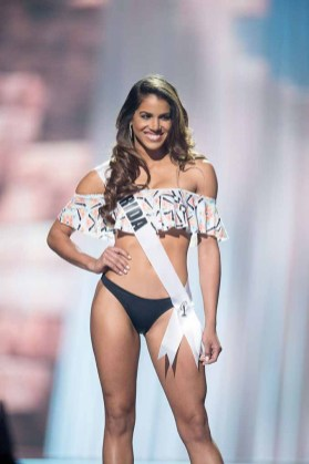 Linette De Los Santos, Miss Florida USA 2017, competes on stage in Yandy Swim during the MISS USA® Preliminary Competition at Mandalay Bay Convention Center on May 11, 2017. The Miss USA contestants have been touring, filming, rehearsing and preparing to compete for the Miss USA crown in Las Vegas, Nevada. Tune in to the FOX telecast at 8:00 PM ET live/PT tape-delayed on Sunday, May 14, from Mandalay Bay Resort and Casino Las Vegas to see who will become Miss USA. HO/The Miss Universe Organization